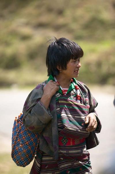 Bhutanese woman in kira
