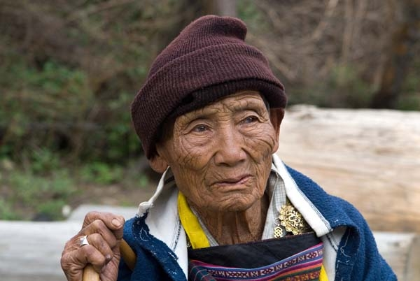 Old woman from Haa