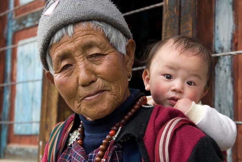 Haap woman with grandchild